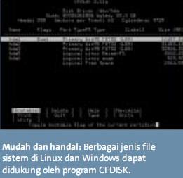 Mempartisi dan memformat hard disk dengan CFDISK